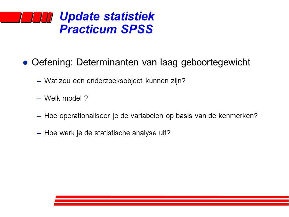 Update statistiek Practicum SPSS
