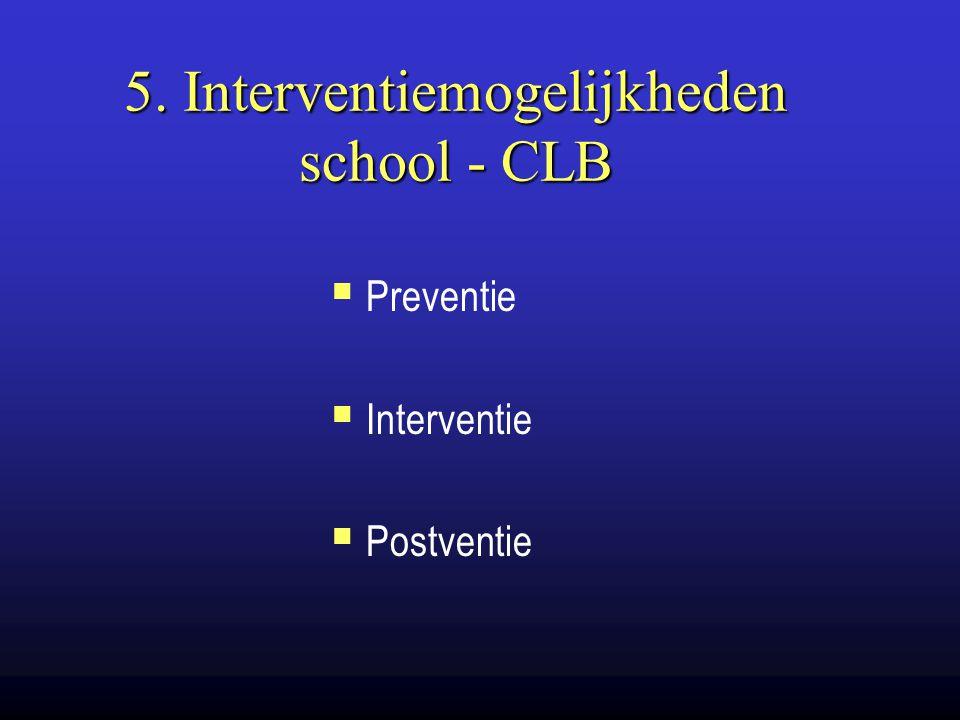 5. Interventiemogelijkheden school - CLB