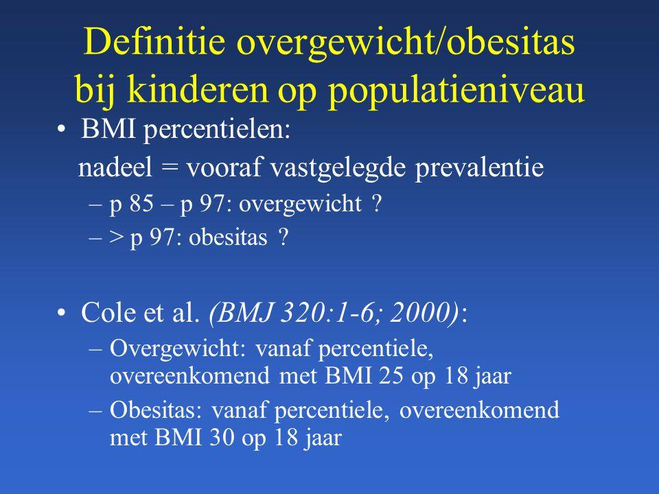 Definitie overgewicht/obesitas bij kinderen op populatieniveau