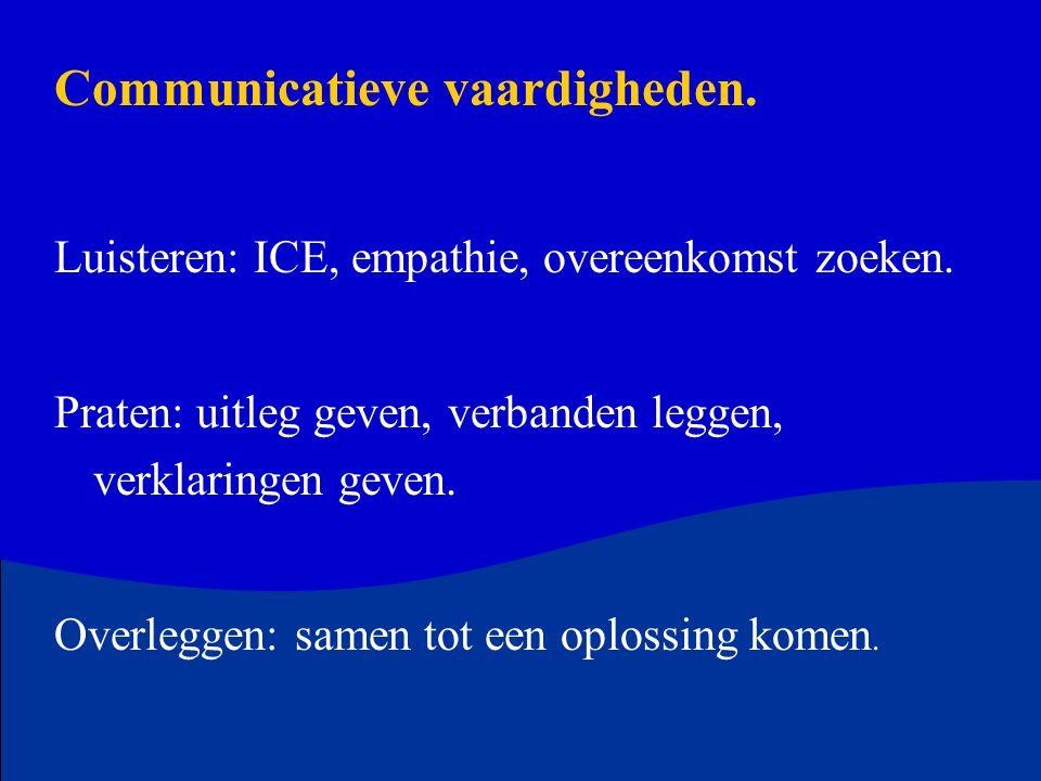 Communicatieve vaardigheden.