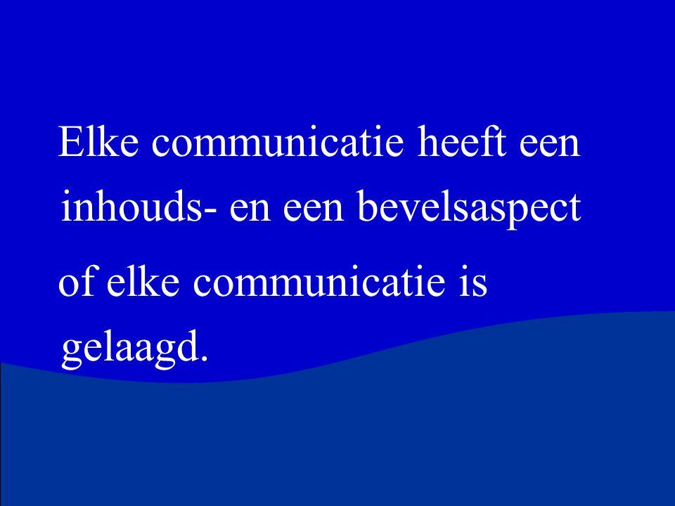 Elke communicatie heeft een inhouds- en een bevelsaspect