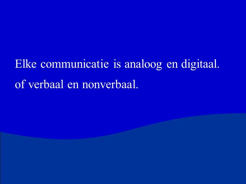 Elke communicatie is analoog en digitaal.