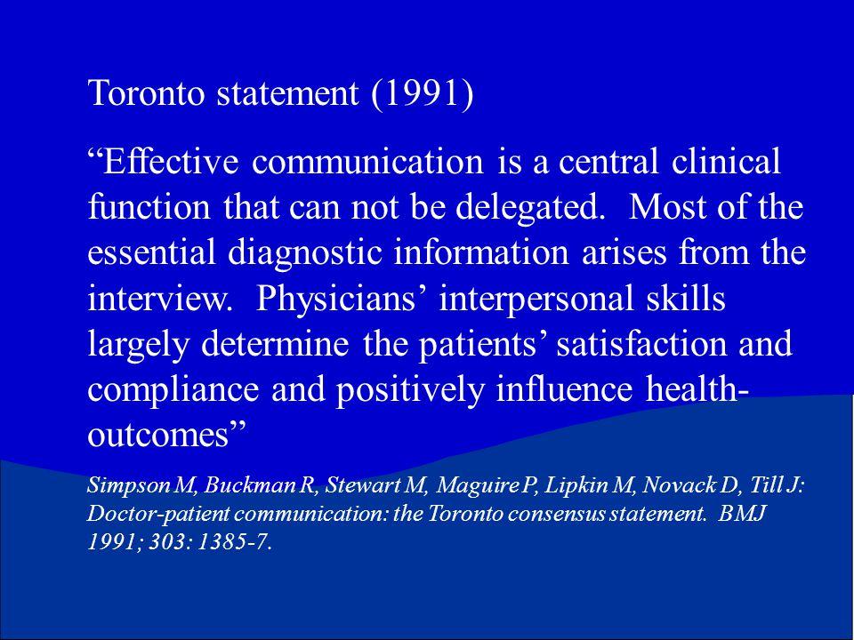 Toronto statement (1991)