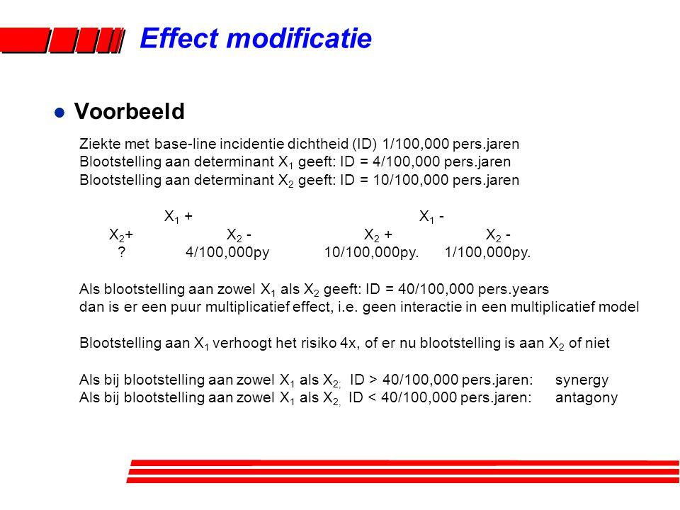 Effect modificatie Voorbeeld