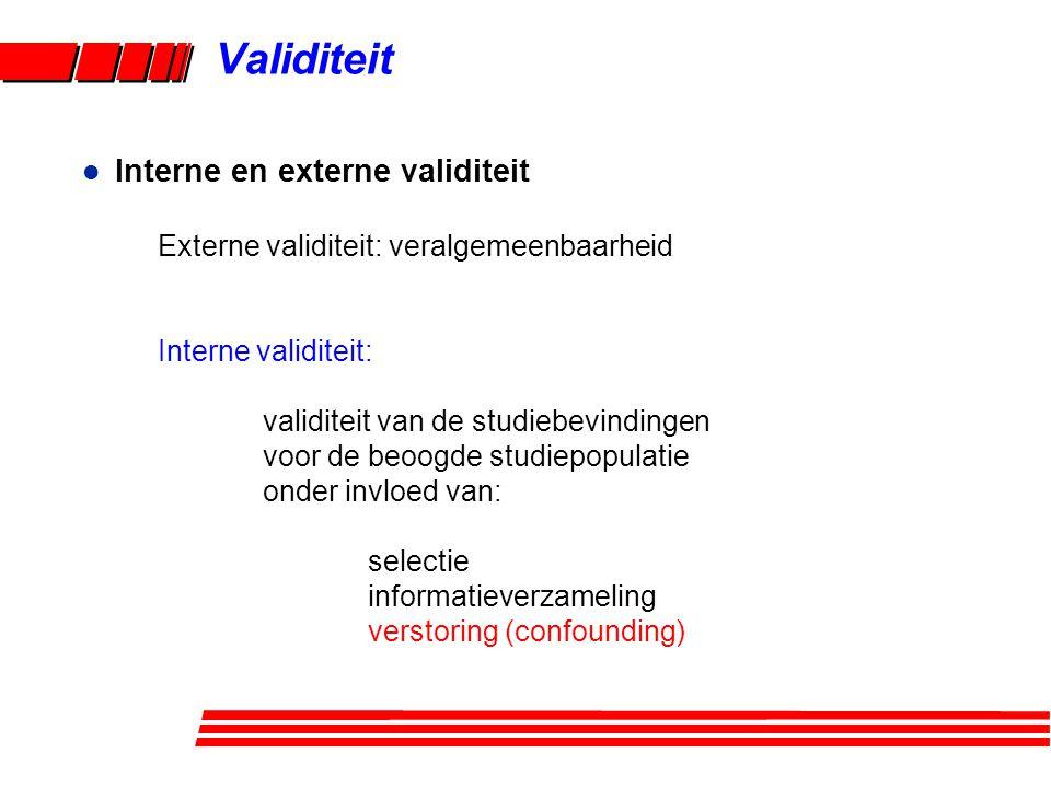 Validiteit Interne en externe validiteit