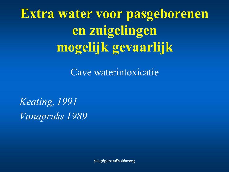 Extra water voor pasgeborenen en zuigelingen mogelijk gevaarlijk