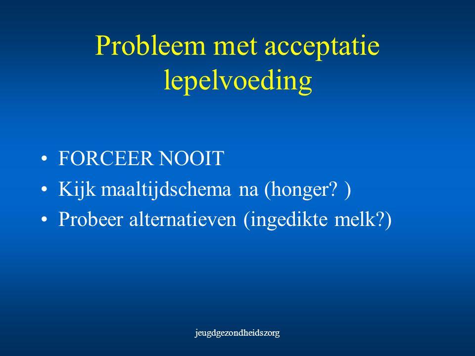 Probleem met acceptatie lepelvoeding