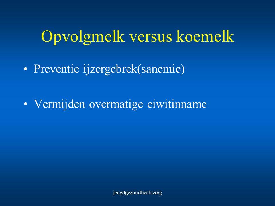 Opvolgmelk versus koemelk