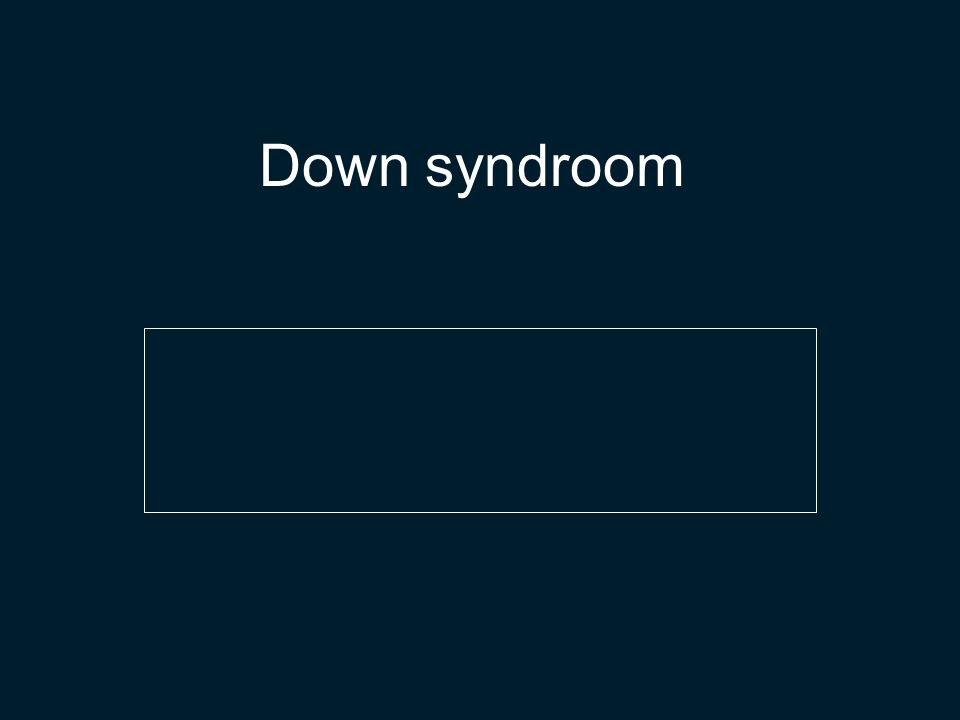 Down syndroom