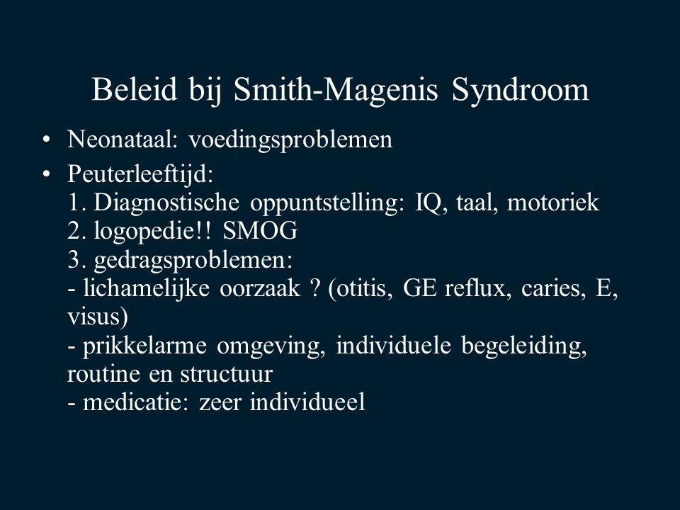 Beleid bij Smith-Magenis Syndroom