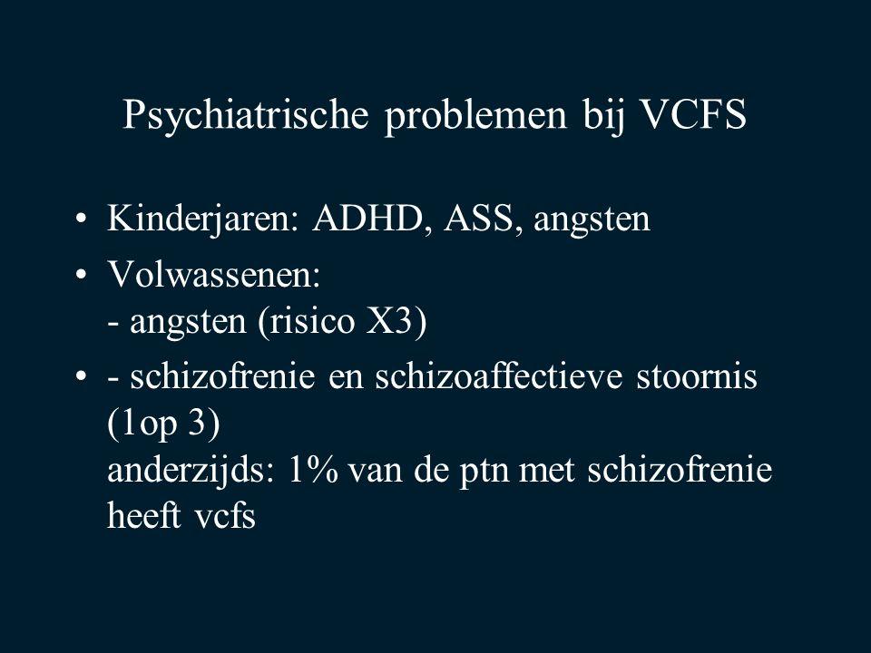 Psychiatrische problemen bij VCFS