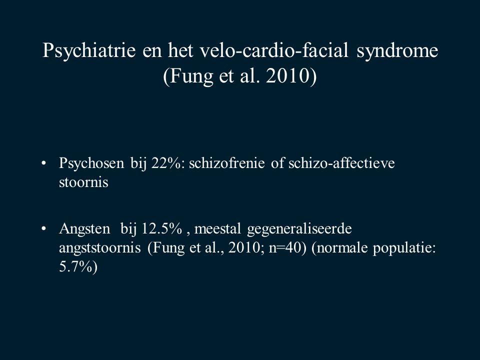 Psychiatrie en het velo-cardio-facial syndrome (Fung et al. 2010)