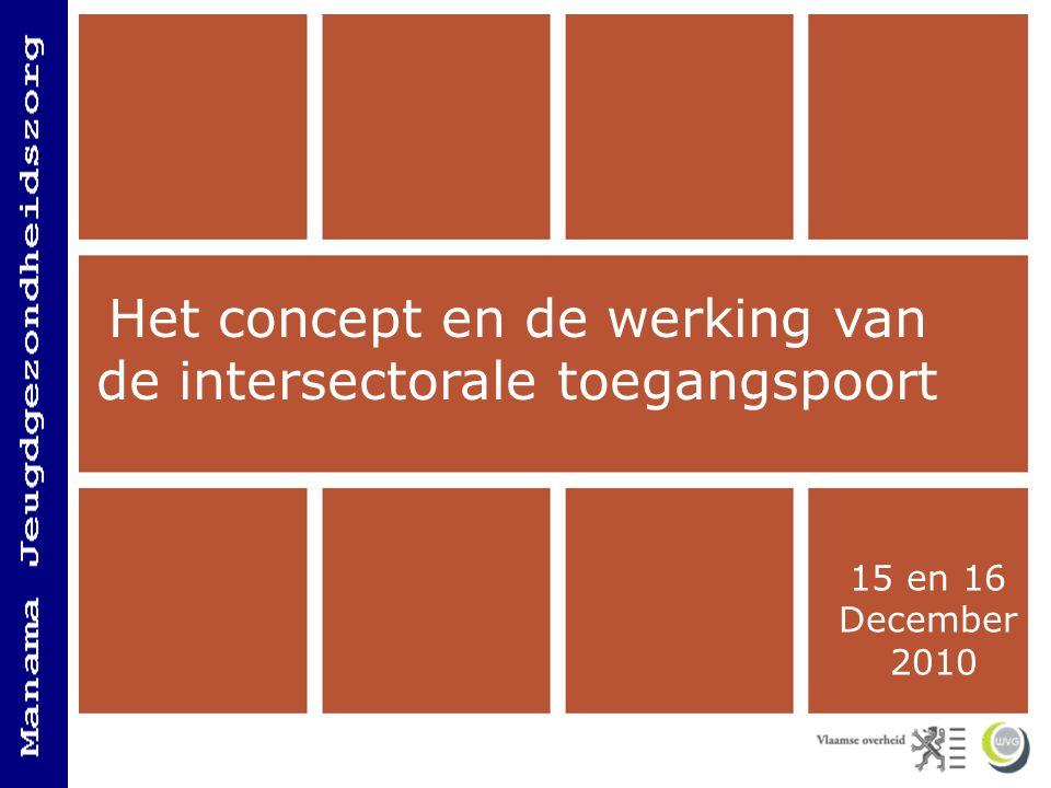 Het concept en de werking van de Intersectorale Toegangspoort