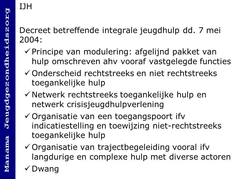 IJH Decreet betreffende integrale jeugdhulp dd. 7 mei 2004: