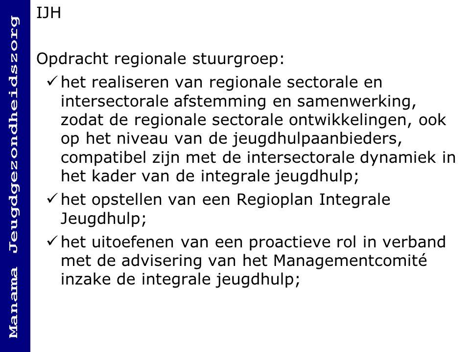 IJH Opdracht regionale stuurgroep: