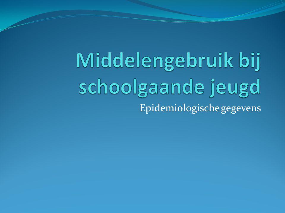 Middelengebruik bij schoolgaande jeugd