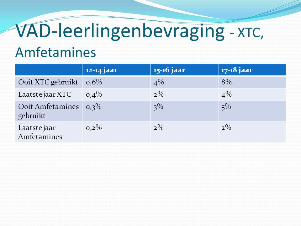 VAD-leerlingenbevraging - XTC, Amfetamines