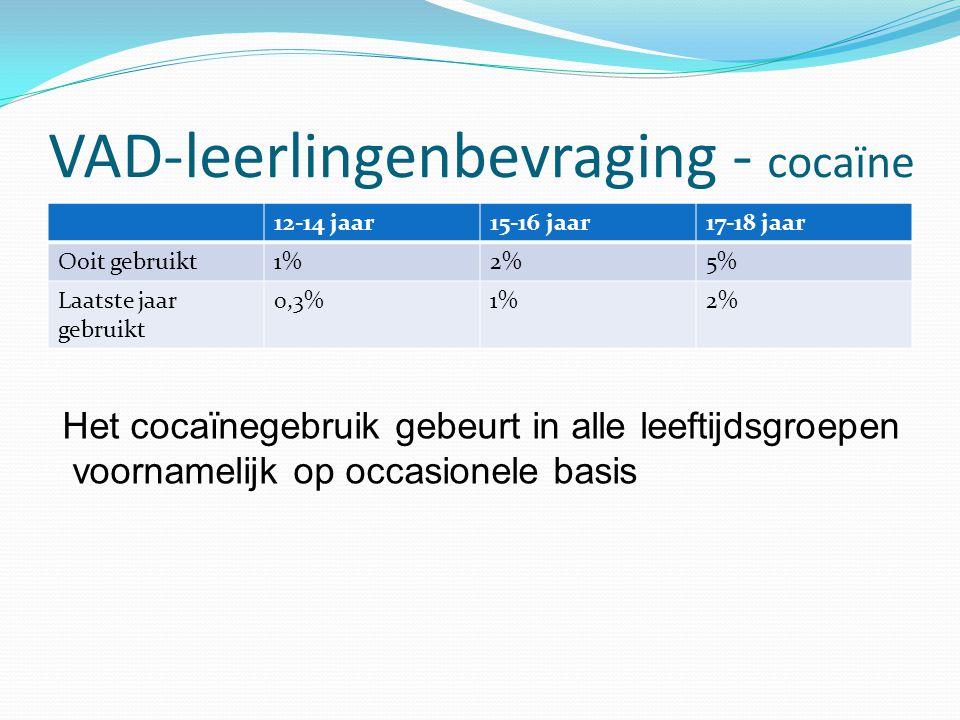 VAD-leerlingenbevraging - cocaïne