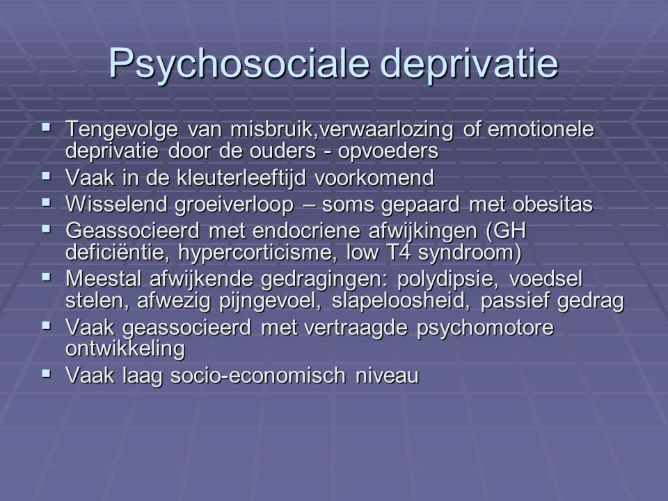Psychosociale deprivatie