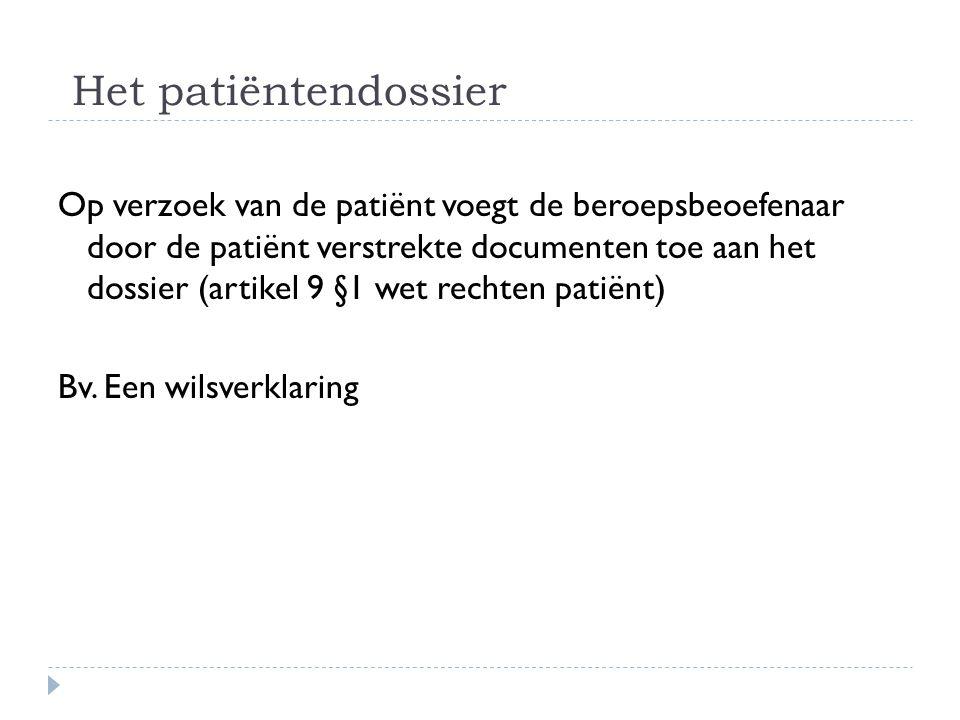 Het patiëntendossier