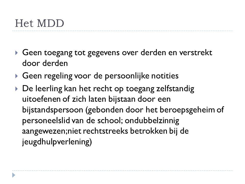 Het MDD Geen toegang tot gegevens over derden en verstrekt door derden