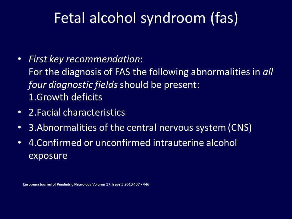 Fetal alcohol syndroom (fas)