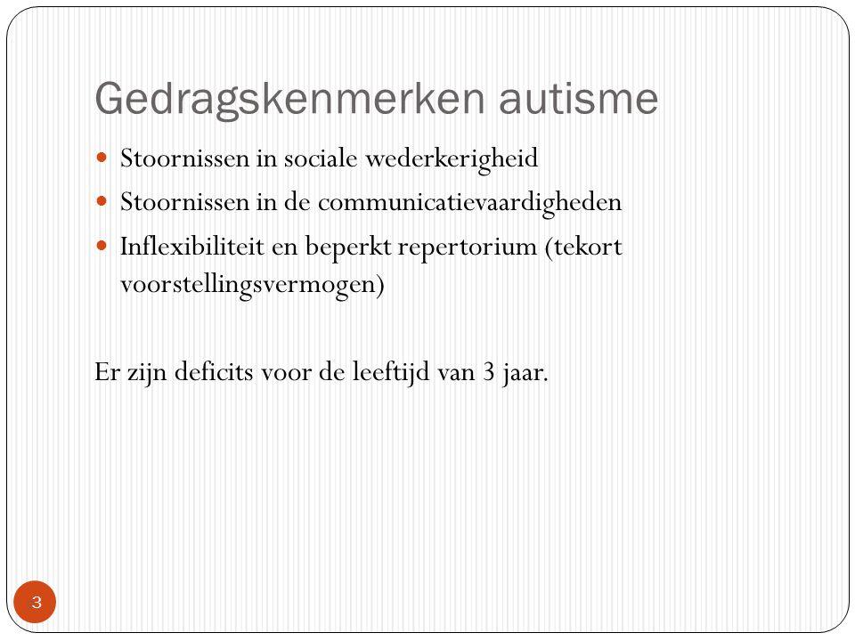 Gedragskenmerken autisme