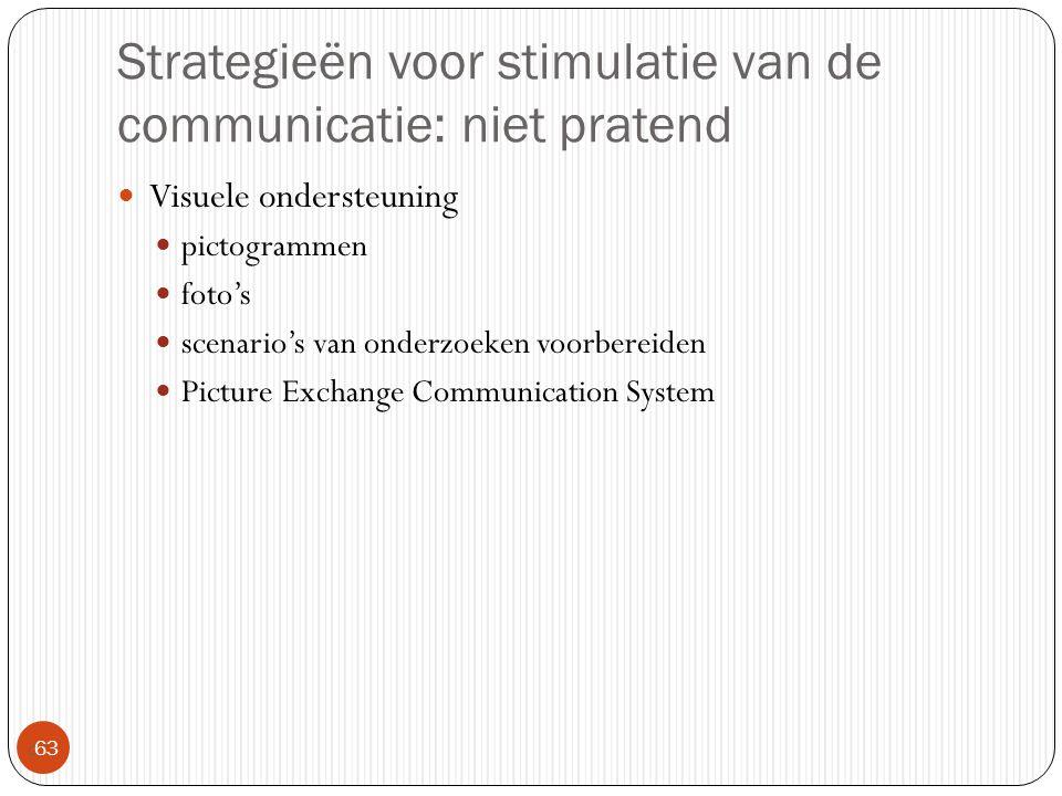 Strategieën voor stimulatie van de communicatie: niet pratend