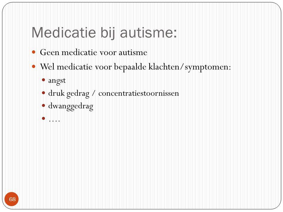 Medicatie bij autisme: