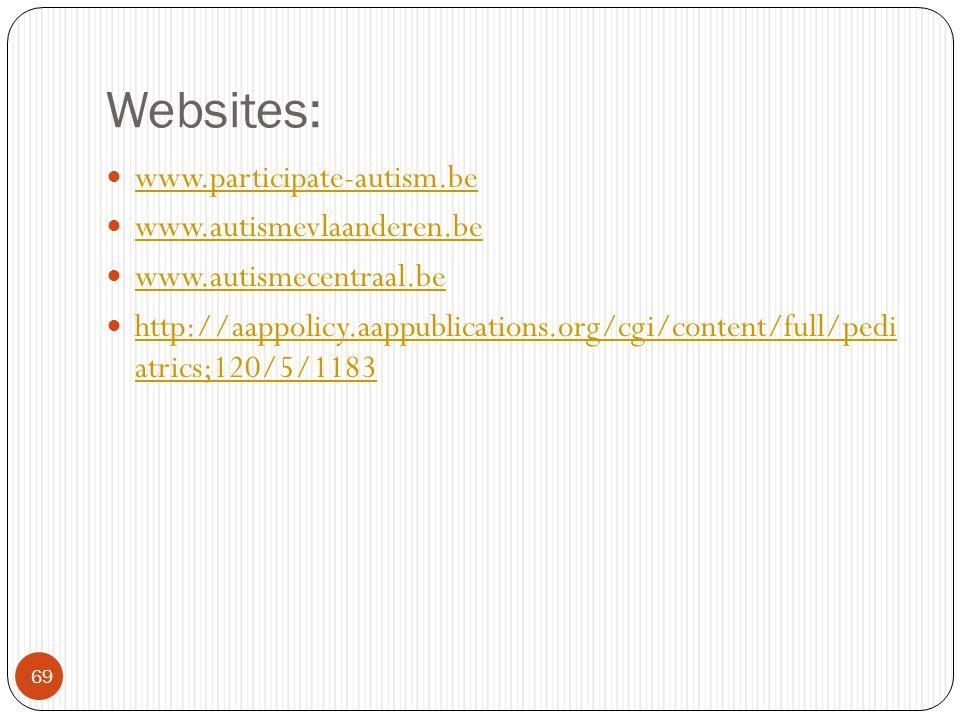 Websites: www.participate-autism.be www.autismevlaanderen.be