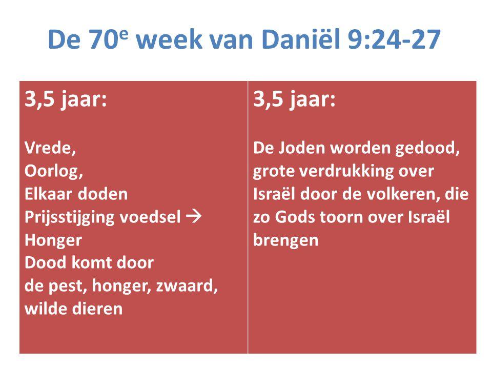 De 70e week van Daniël 9:24-27