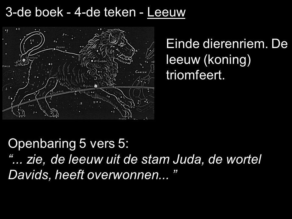 3-de boek - 4-de teken - Leeuw