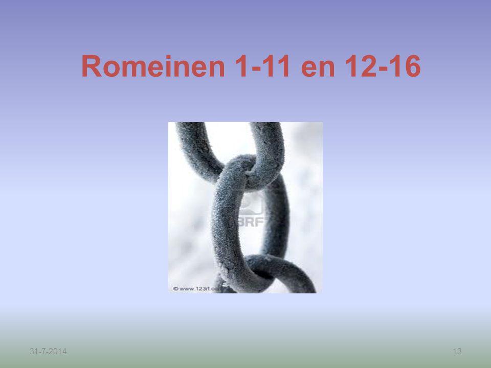 Romeinen 1-11 en 12-16 4-4-2017