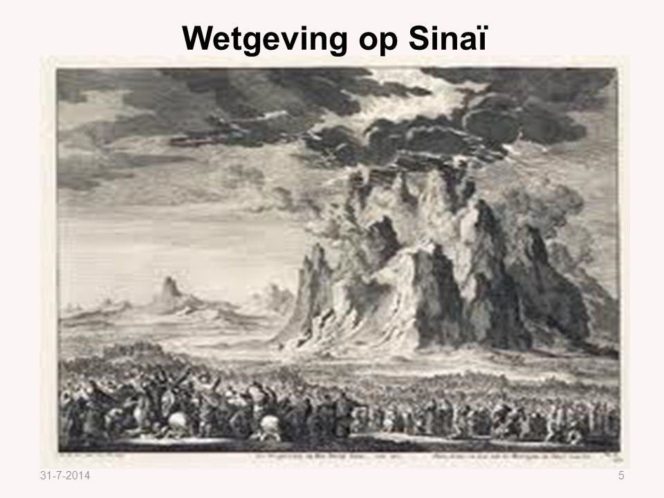 Wetgeving op Sinaï 4-4-2017