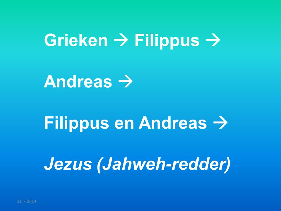 Grieken  Filippus  Andreas 