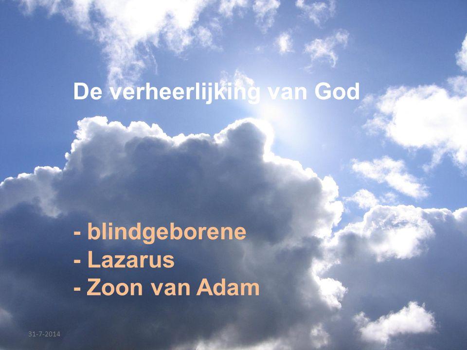 De verheerlijking van God