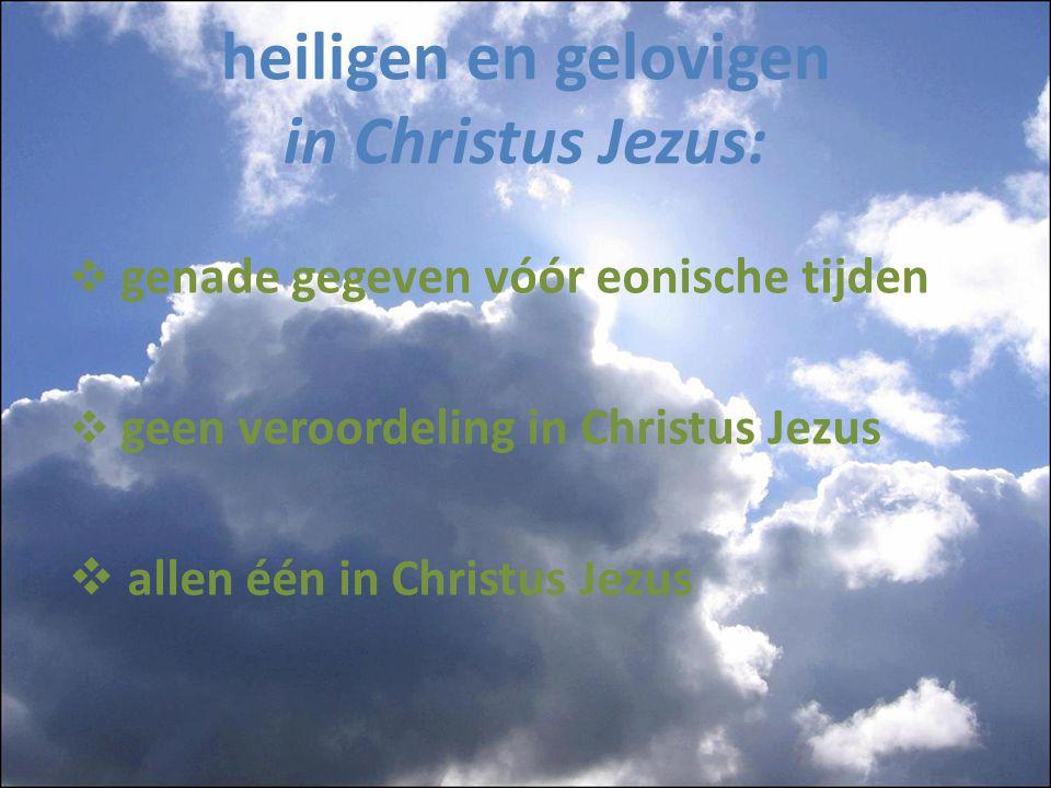 heiligen en gelovigen in Christus Jezus: