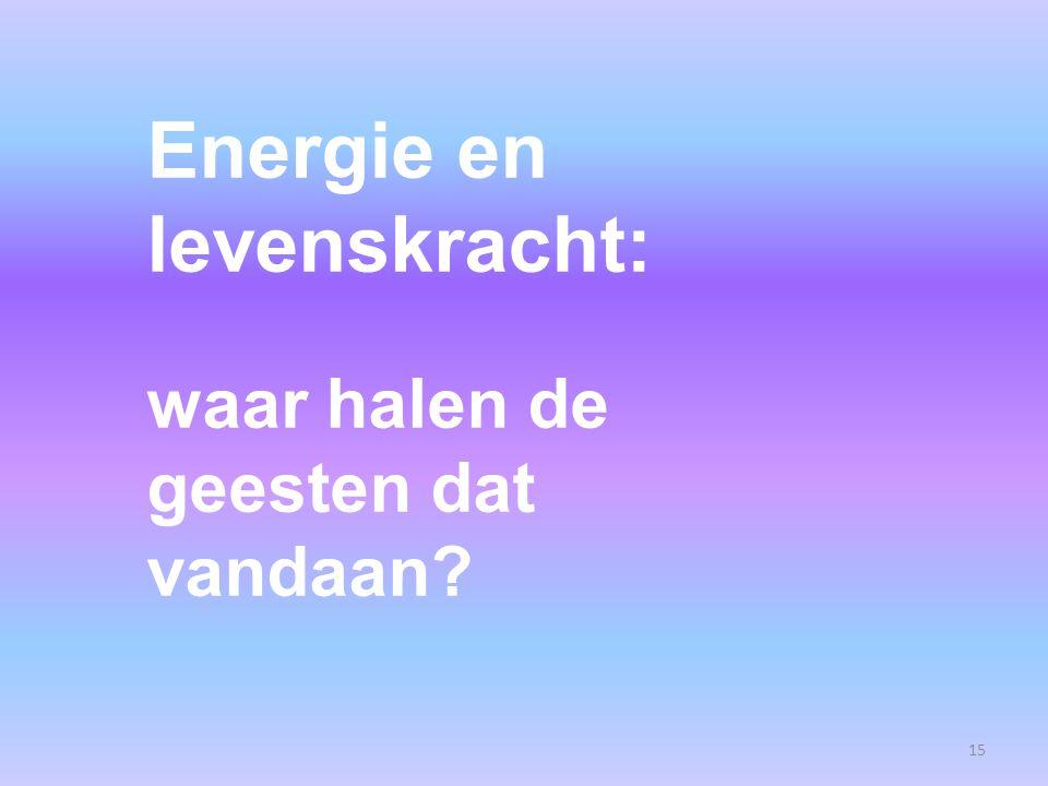 Energie en levenskracht: waar halen de geesten dat vandaan