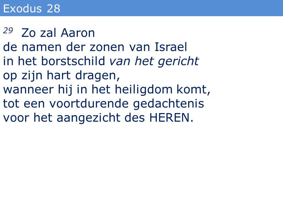 de namen der zonen van Israel in het borstschild van het gericht