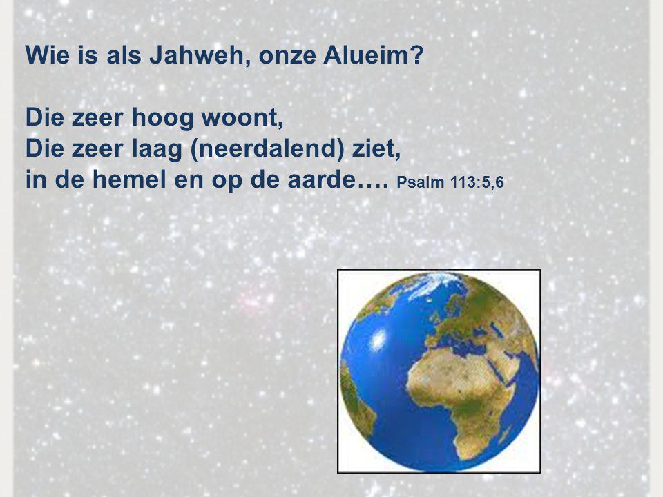 Wie is als Jahweh, onze Alueim
