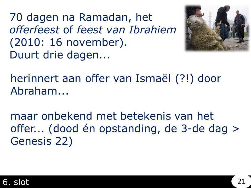 herinnert aan offer van Ismaël ( !) door Abraham...