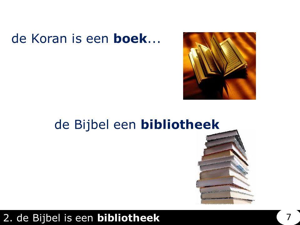 de Bijbel een bibliotheek