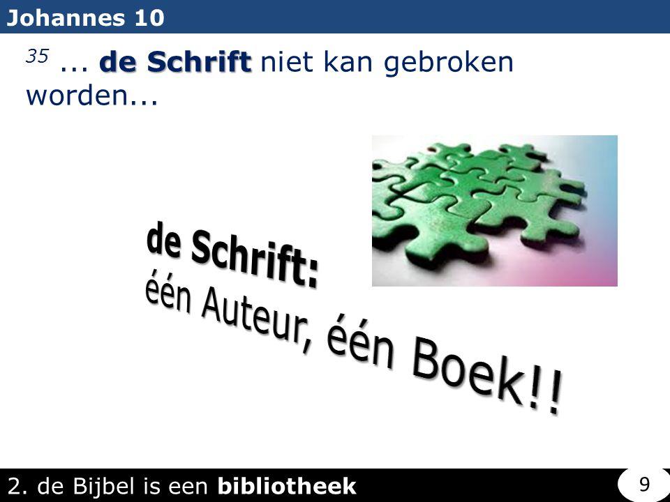 de Schrift: één Auteur, één Boek!!