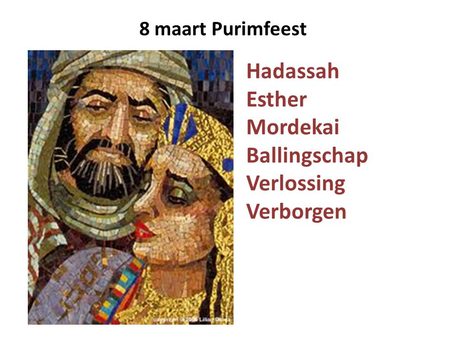 Hadassah Esther Mordekai Ballingschap Verlossing Verborgen