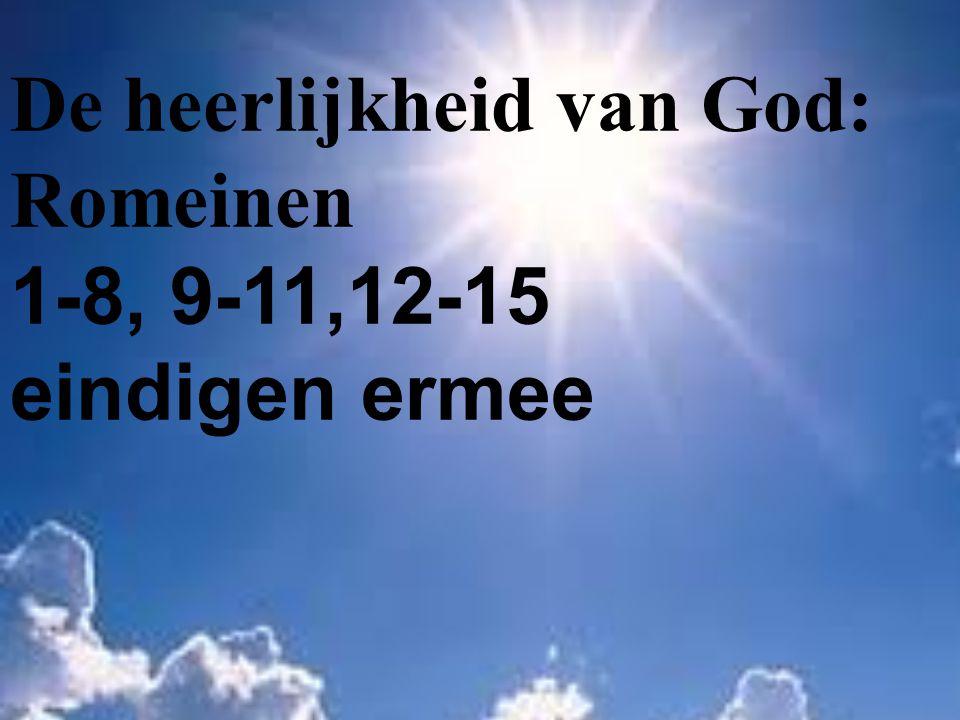 De heerlijkheid van God: