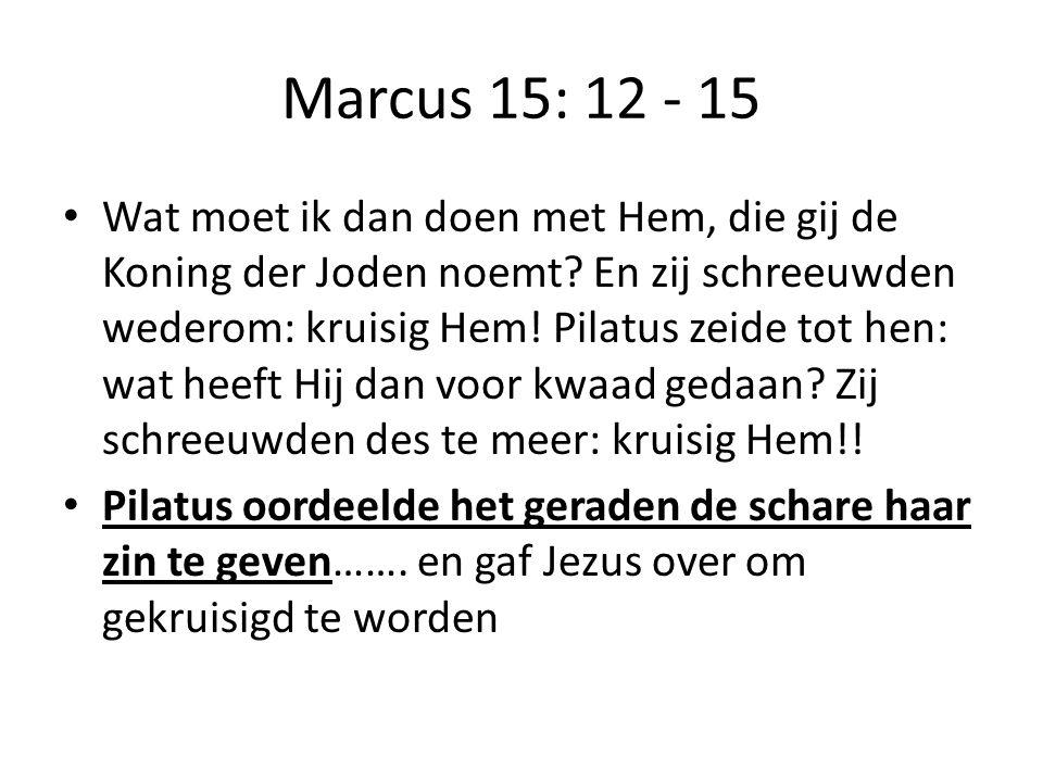 Marcus 15: 12 - 15