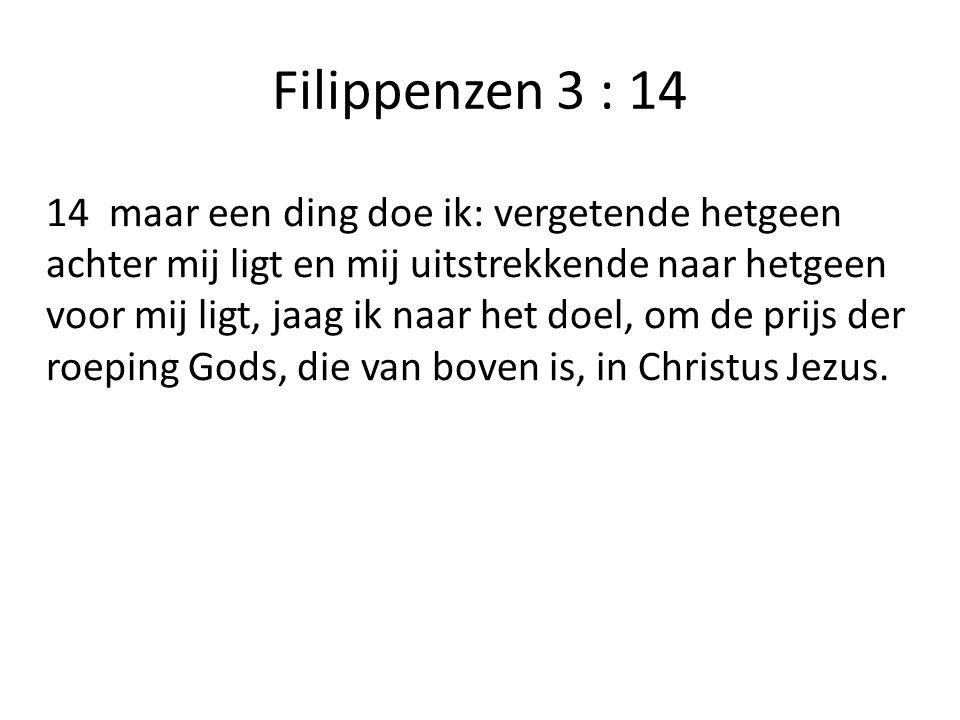 Filippenzen 3 : 14