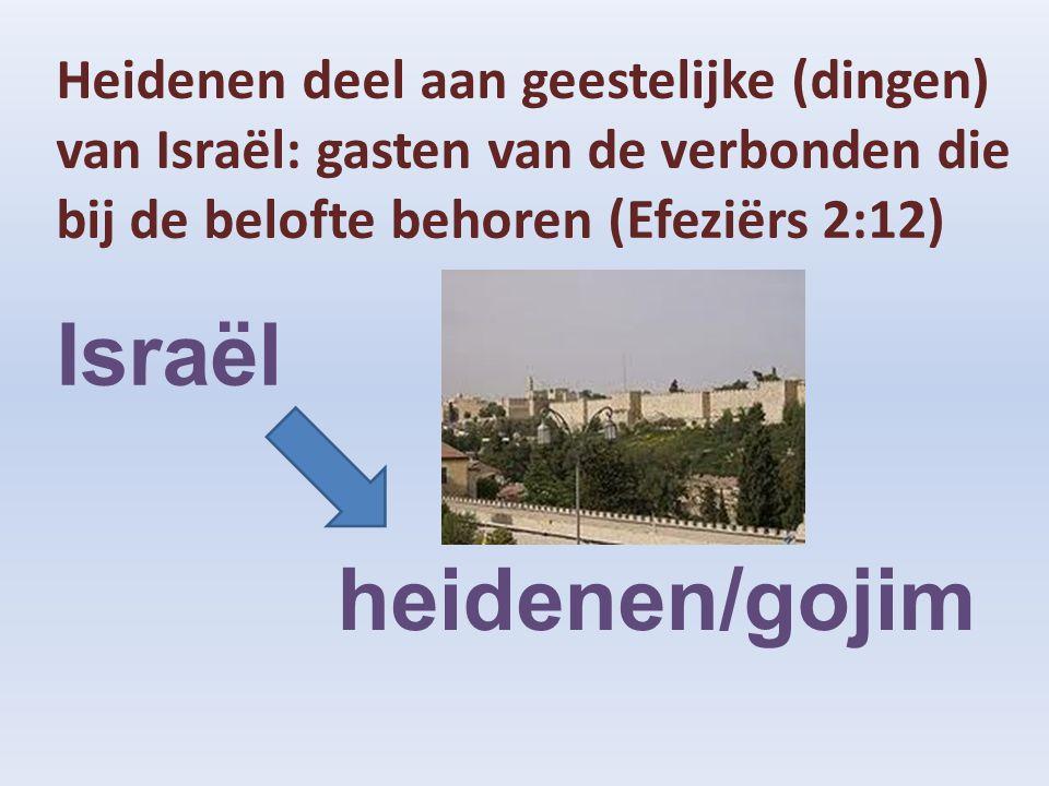 Israël heidenen/gojim Heidenen deel aan geestelijke (dingen)