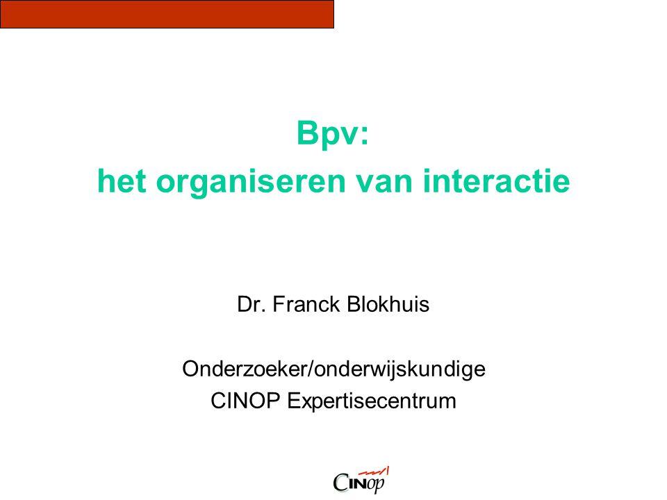 het organiseren van interactie