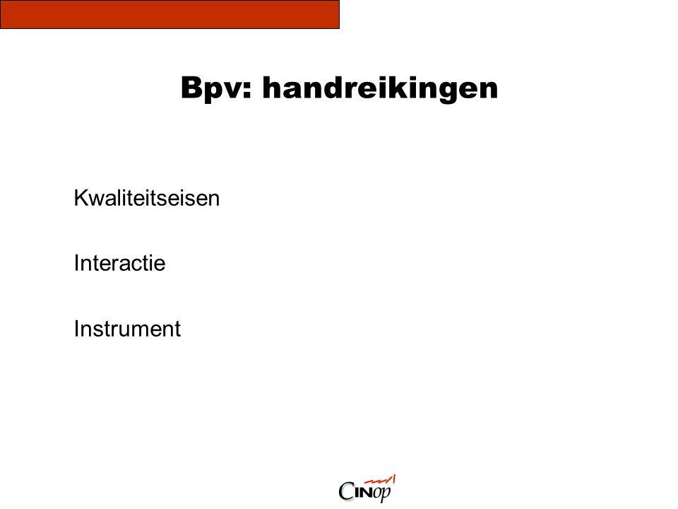 Bpv: handreikingen Kwaliteitseisen Interactie Instrument